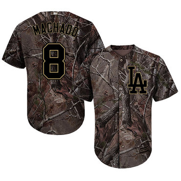 Los Angeles Dodgers #8 Manny Machado Camo Realtree Collection Cool Base Stitched Baseball Jersey