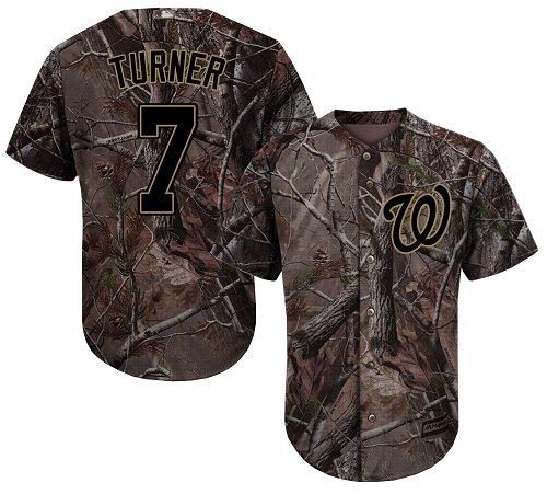 Washington Nationals #7 Trea Turner Camo Realtree Collection Cool Base Stitched Baseball Jersey