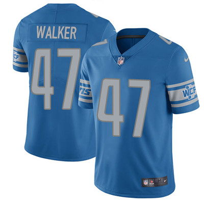 Nike Detroit Lions #47 Tracy Walker Blue Team Color Men's Stitched NFL Vapor Untouchable Limited Jersey