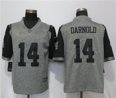 Nike New York Jets #14 Sam Darnold Gray Vapor Untouchable Limited Jersey