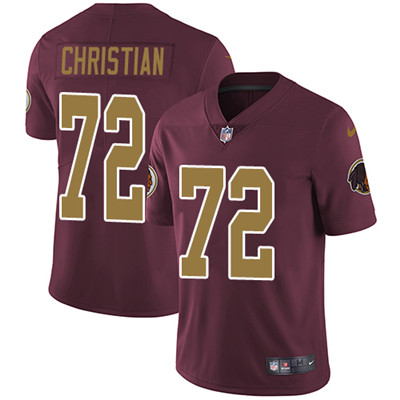 Nike Washington Redskins #72 Geron Christian Burgundy Red Alternate Men's Stitched NFL Vapor Untouchable Limited Jersey
