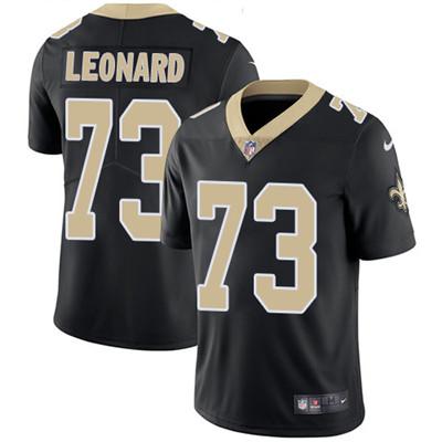 Nike New Orleans Saints #73 Rick Leonard Black Team Color Men's Stitched NFL Vapor Untouchable Limited Jersey