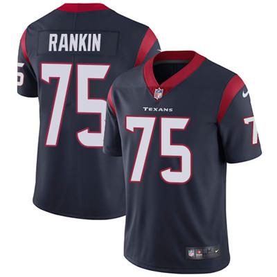 Nike Houston Texans #75 Martinas Rankin Navy Blue Team Color Men's Stitched NFL Vapor Untouchable Limited Jersey