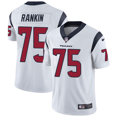 Nike Houston Texans #75 Martinas Rankin White Men's Stitched NFL Vapor Untouchable Limited Jersey