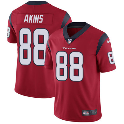 Nike Houston Texans #88 Jordan Akins Red Alternate Men's Stitched NFL Vapor Untouchable Limited Jersey