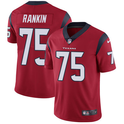 Nike Houston Texans #75 Martinas Rankin Red Alternate Men's Stitched NFL Vapor Untouchable Limited Jersey
