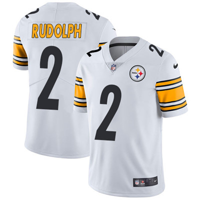 Nike Pittsburgh Steelers #2 Mason Rudolph White Men's Stitched NFL Vapor Untouchable Limited Jersey