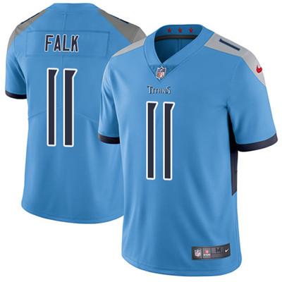 Nike Tennessee Titans #11 Luke Falk Light Blue Team Color Men's Stitched NFL Vapor Untouchable Limited Jersey