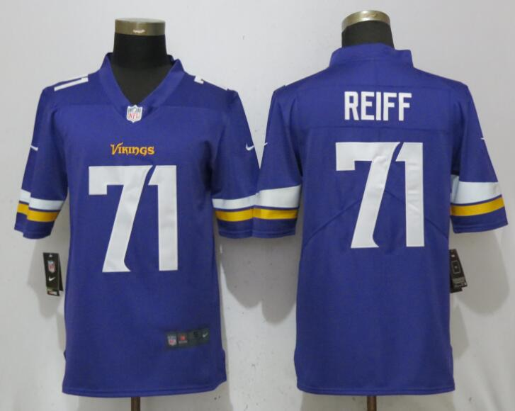 Nike Minnesota Vikings 71 Riley Reiff Purple Vapor Untouchable Limited Jersey