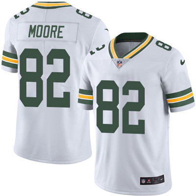 Nike Green Bay Packers #82 J'Mon Moore White Men's Stitched NFL Vapor Untouchable Limited Jersey