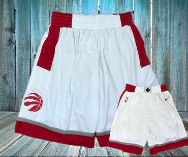 Toronto Raptors White Nike Swingman Shorts