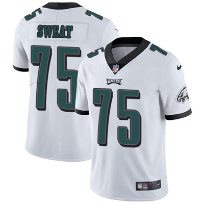 Nike Philadelphia Eagles #75 Josh Sweat White Men's Stitched NFL Vapor Untouchable Limited Jersey