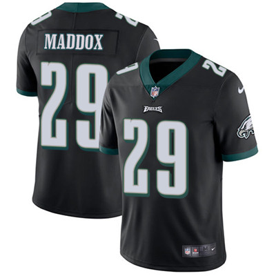 Nike Philadelphia Eagles #29 Avonte Maddox Black Alternate Men's Stitched NFL Vapor Untouchable Limited Jersey