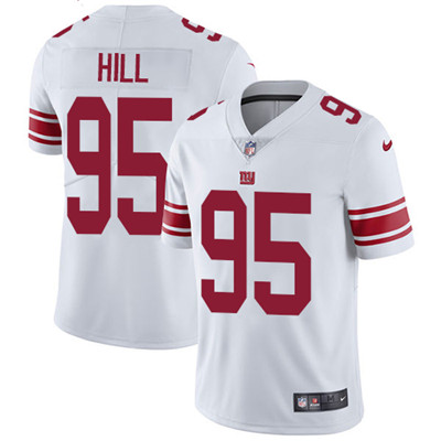 Nike New York Giants #95 B.J. Hill White Men's Stitched NFL Vapor Untouchable Limited Jersey