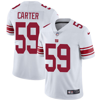 Nike New York Giants #59 Lorenzo Carter White Men's Stitched NFL Vapor Untouchable Limited Jersey