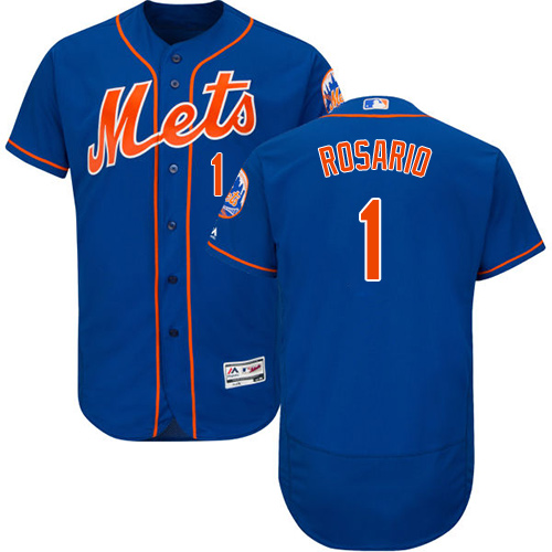 New York Mets #1 Amed Rosario Blue Flexbase Authentic Collection Stitched Baseball Jersey