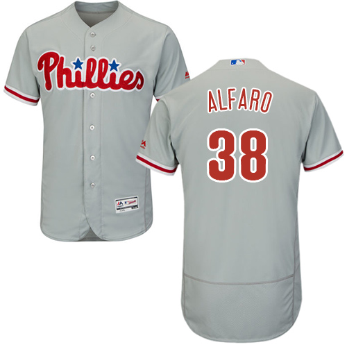 Philadelphia Phillies #38 Jorge Alfaro Grey Flexbase Authentic Collection Stitched Baseball Jersey