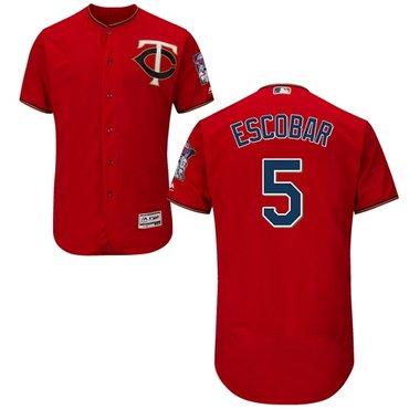 Minnesota Twins #5 Eduardo Escobar Red Flexbase Authentic Collection Stitched Baseball Jersey