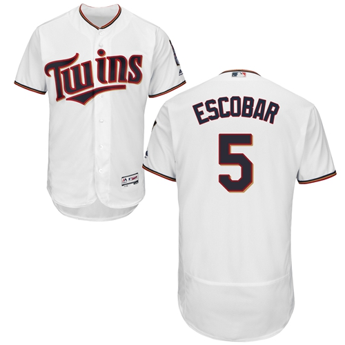 Minnesota Twins #5 Eduardo Escobar White Flexbase Authentic Collection Stitched Baseball Jersey