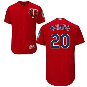 Minnesota Twins #20 Eddie Rosario Red Flexbase Authentic Collection Stitched Baseball Jersey