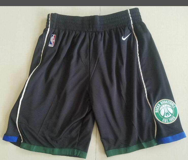 Men's Milwaukee Bucks Nike Black Basketball Shorts
