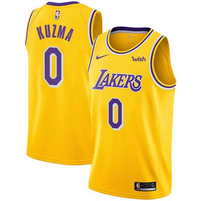 Nike Los Angeles Lakers #0 Kyle Kuzma Gold NBA Swingman Icon Edition Jersey