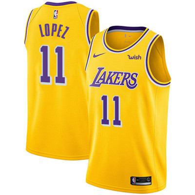 Nike Los Angeles Lakers #11 Brook Lopez Gold NBA Swingman Icon Edition Jersey