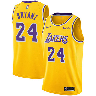 Nike Los Angeles Lakers #24 Kobe Bryant Gold NBA Swingman Icon Edition Jersey