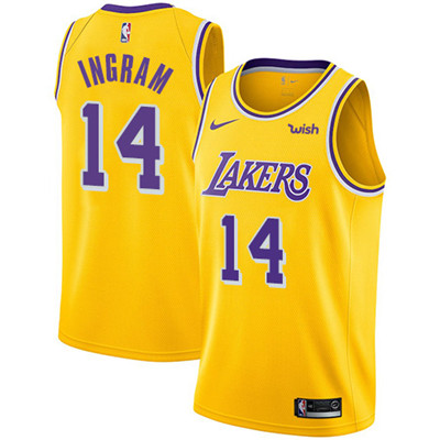 Nike Los Angeles Lakers #14 Brandon Ingram Gold NBA Swingman Icon Edition Jersey