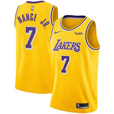 Nike Los Angeles Lakers #7 Larry Nance Jr. Gold NBA Swingman Icon Edition Jersey