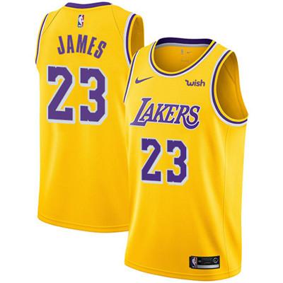 Nike Los Angeles Lakers #23 LeBron James Gold NBA Swingman Icon Edition Jersey
