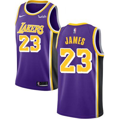 Nike Los Angeles Lakers #23 LeBron James Purple NBA Swingman Statement Edition Jersey