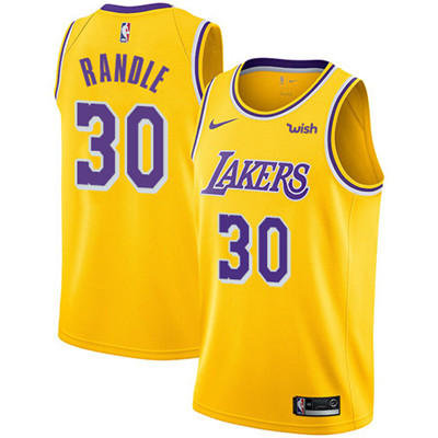 Nike Los Angeles Lakers #30 Julius Randle Gold NBA Swingman Icon Edition Jersey