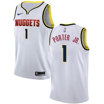Nike Denver Nuggets #1 Michael Porter Jr. White NBA Swingman Association Edition Jersey