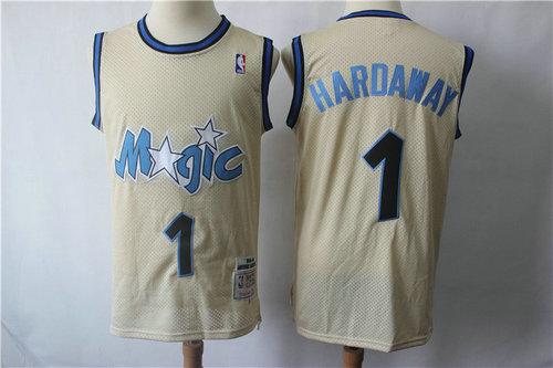 Orlando Magic #1 Hardaway Blue Throwback Jersey