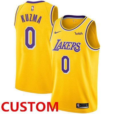 Nike Men's Custom Los Angeles Lakers Gold NBA Swingman Icon Edition Jersey