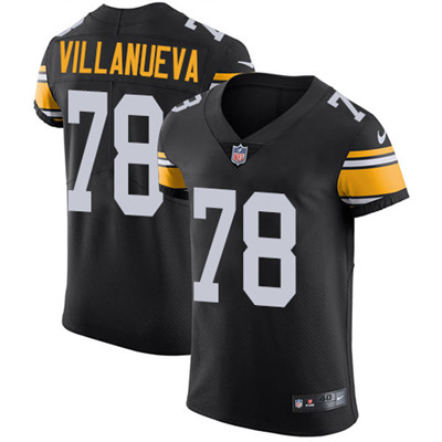 Nike Steelers #78 Alejandro Villanueva Black Alternate Men's Stitched NFL Vapor Untouchable Elite Jersey