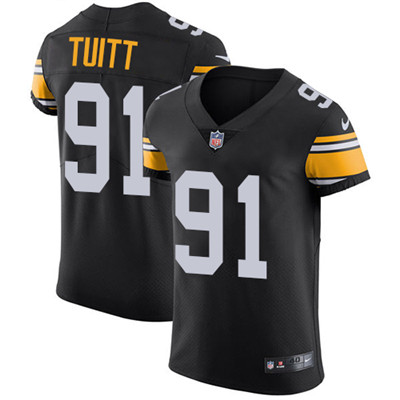 Nike Steelers #91 Stephon Tuitt Black Alternate Men's Stitched NFL Vapor Untouchable Elite Jersey