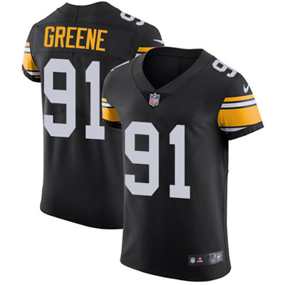 Nike Steelers #91 Kevin Greene Black Alternate Men's Stitched NFL Vapor Untouchable Elite Jersey