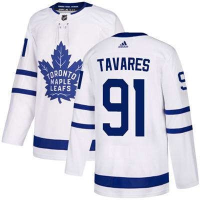 Adidas Toronto Maple Leafs #91 John Tavares White Adidas Jersey