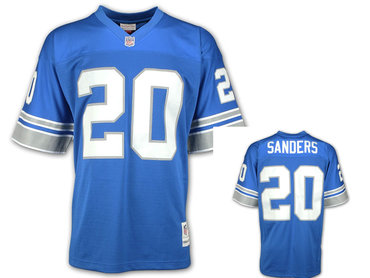 Detroit Lions #20 Barry Sanders blue Throwback Jersey