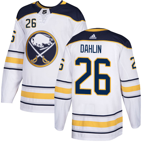 Adidas Buffalo Sabres #26 Rasmus Dahlin White Road Authentic Stitched NHL Jersey