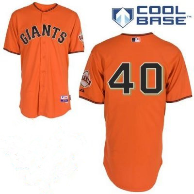 Mens's San Francisco Giants #40 Madison Bumgarner Orange Jerseys