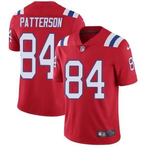 Men's Nike New England Patriots #84 Cordarrelle Patterson Red Alternate Vapor Untouchable Limited Jersey