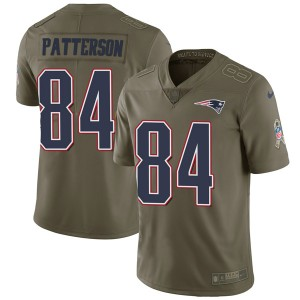 Men's Nike New England Patriots #84 Cordarrelle Patterson Olive 2017 Salute to Service Limited Jersey