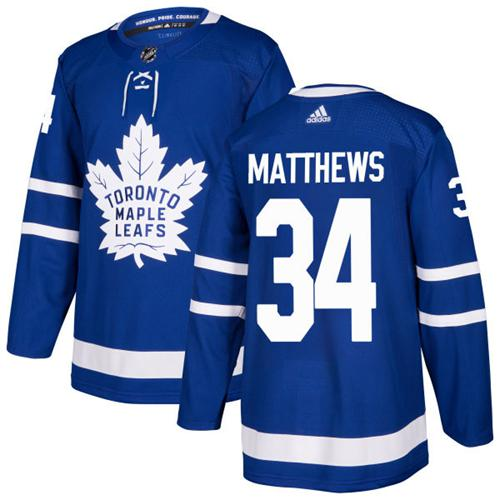 Youth Adidas Maple Leafs #34 Auston Matthews Blue Home Authentic Stitched NHL Jersey