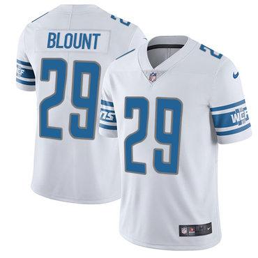 Men's Nike Detroit Lions #29 LeGarrette Blount White Stitched NFL Vapor Untouchable Limited Jersey