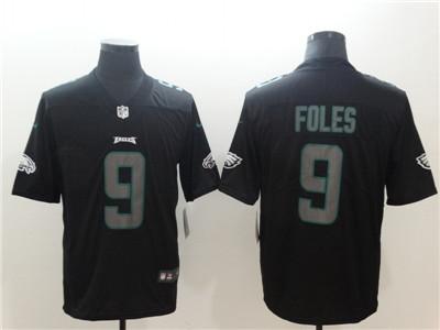 Nike Philadelphia Eagles #9 Nick Foles Black Vapor Impact Limited Jersey