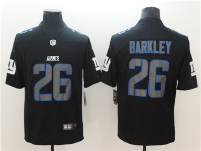 Nike New York Giants #26 Saquon Barkley Black Vapor Impact Limited Jersey