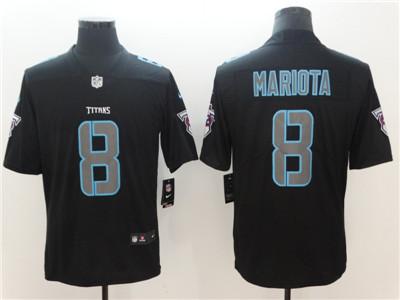 Nike Tennessee Titans #8 Marcus Mariota Black Vapor Impact Limited Jersey